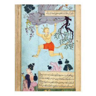Dios del mono de Ramayana Tarjeta Postal