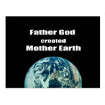 Dios del padre creó la madre tierra postal