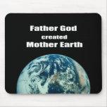 Dios del padre creó la madre tierra tapete de ratones