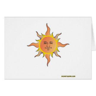 Dios del sol tarjeta de felicitación