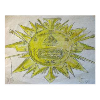 Dios del sol tarjeta postal