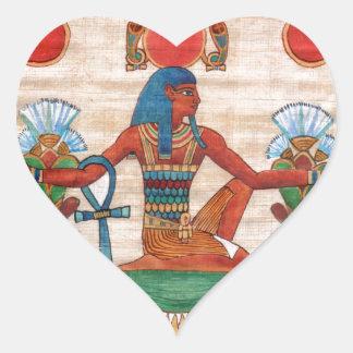Dios del tiempo pegatina en forma de corazón