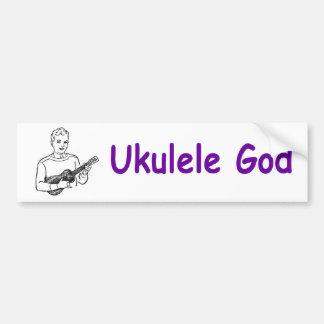 Dios del Ukulele Etiqueta De Parachoque