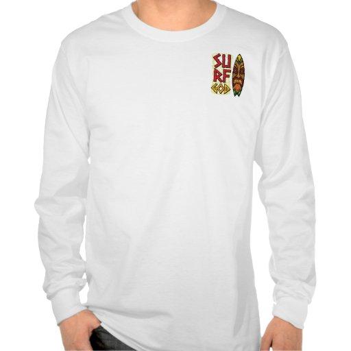 Dios del viento del tablero de Tiki Camisetas