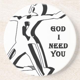 Dios donde está usted yo ahora le necesita posavasos cerveza