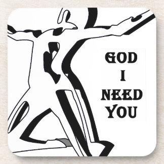 Dios donde está usted yo ahora le necesita posavasos