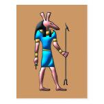 Dios egipcio set egypt god postales