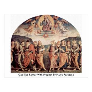 Dios el padre con el profeta de Pedro Perugino Tarjeta Postal