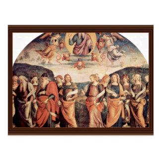 Dios el padre con el profeta y la sibila tarjetas postales