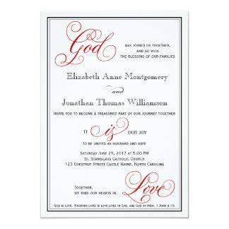 Dios elegante es invitación cristiana del boda del