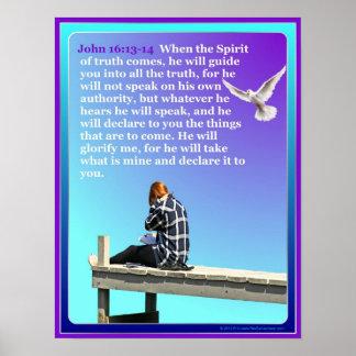 Dios en el poster inspirado del muelle