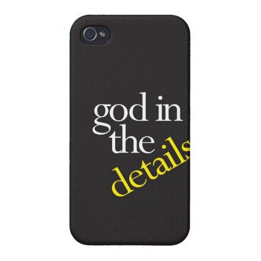 """""""Dios en los detalles """" iPhone 4 Protectores"""