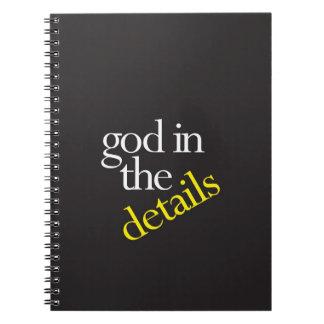 """""""Dios en los detalles """" Libreta Espiral"""