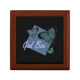 Dios encajona caja de dios del paso de la recupera joyero cuadrado pequeño