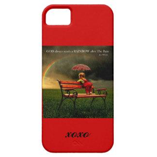 Dios envía siempre un arco iris - caso del ambient iPhone 5 Case-Mate funda