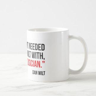 Dios enviado una taza de café del músico
