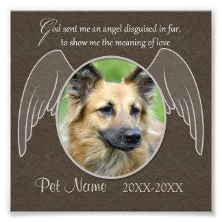 Dios envió un personalizado de la condolencia del  arte con fotos