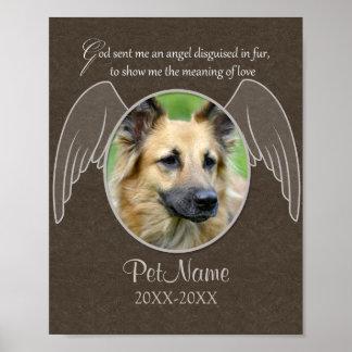 Dios envió un personalizado de la condolencia del  póster