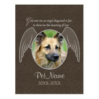 Dios envió un personalizado de la condolencia del postales
