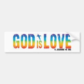 Dios es 4:16 de Juan del amor 1 Pegatina Para Auto