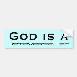 Dios es a etiqueta de parachoque
