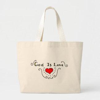 Dios es amor bolsas