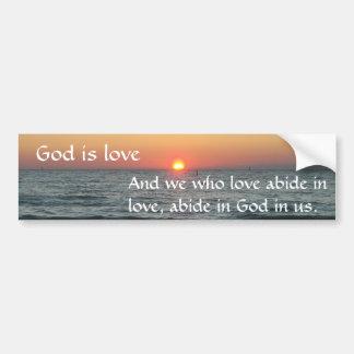Dios es amor pegatina para coche