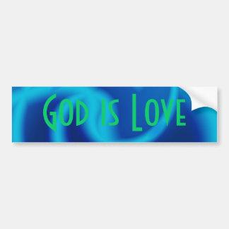 Dios es amor pegatina para auto