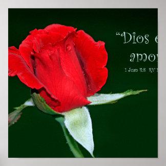 Dios es amor (Cartel de 1 Juan 4:8) Poster