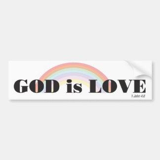 Dios es amor con la pegatina para el parachoques d pegatina para auto