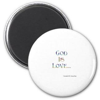 Dios es amor imanes