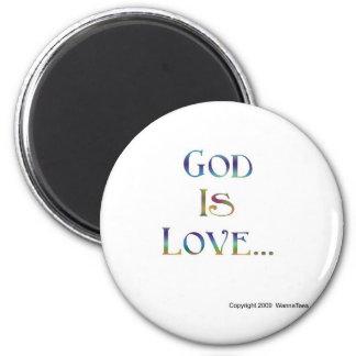 Dios es amor imán para frigorifico