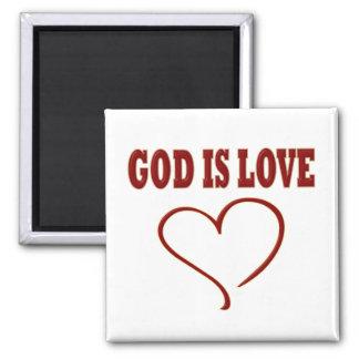Dios es amor imán cuadrado
