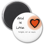 Dios es amor iman de frigorífico