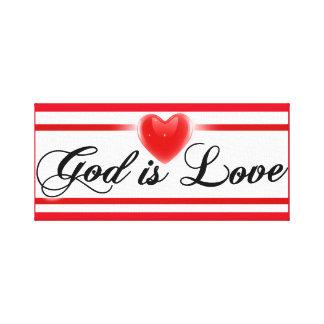 Dios es amor lona estirada galerías