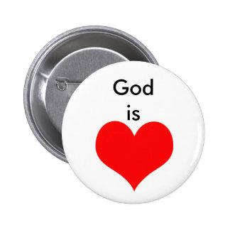 Dios es amor pin redondo 5 cm