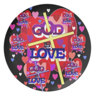 Dios es amor plato de cena