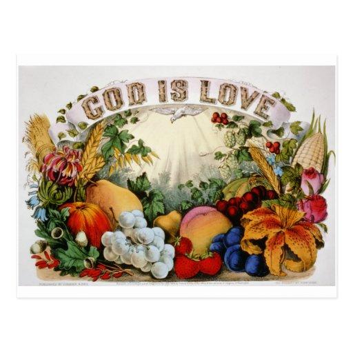 Dios es amor postal
