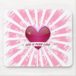 Dios es amor puro alfombrilla de ratones
