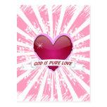 Dios es amor puro postal