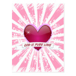 Dios es amor puro tarjeta postal