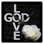 Dios es amor reloj