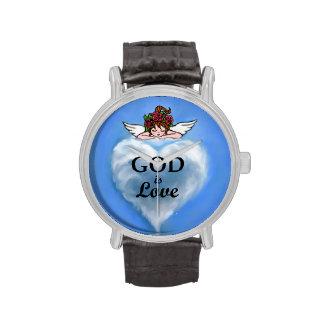 Dios es amor relojes de pulsera