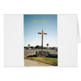 Dios es amor tarjeta de felicitación