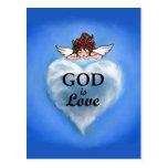 Dios es amor tarjetas postales