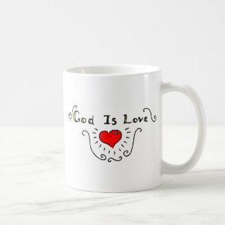 Dios es amor taza