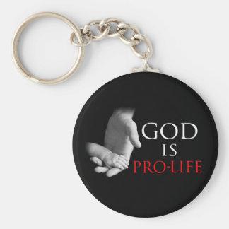 Dios es antiabortista llavero redondo tipo pin