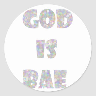 dios es bae pegatina redonda