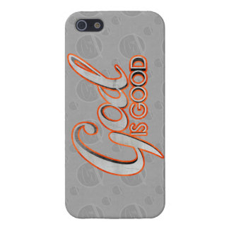 Dios es buen iPhone 5 casos brillantes/mates listo iPhone 5 Protectores