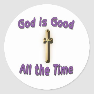 Dios es buen pegatina